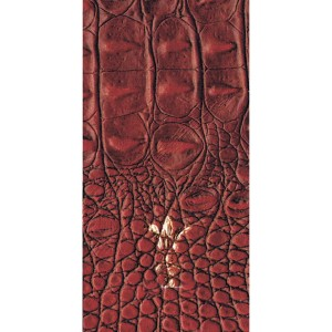 Leather L002 Croco Red