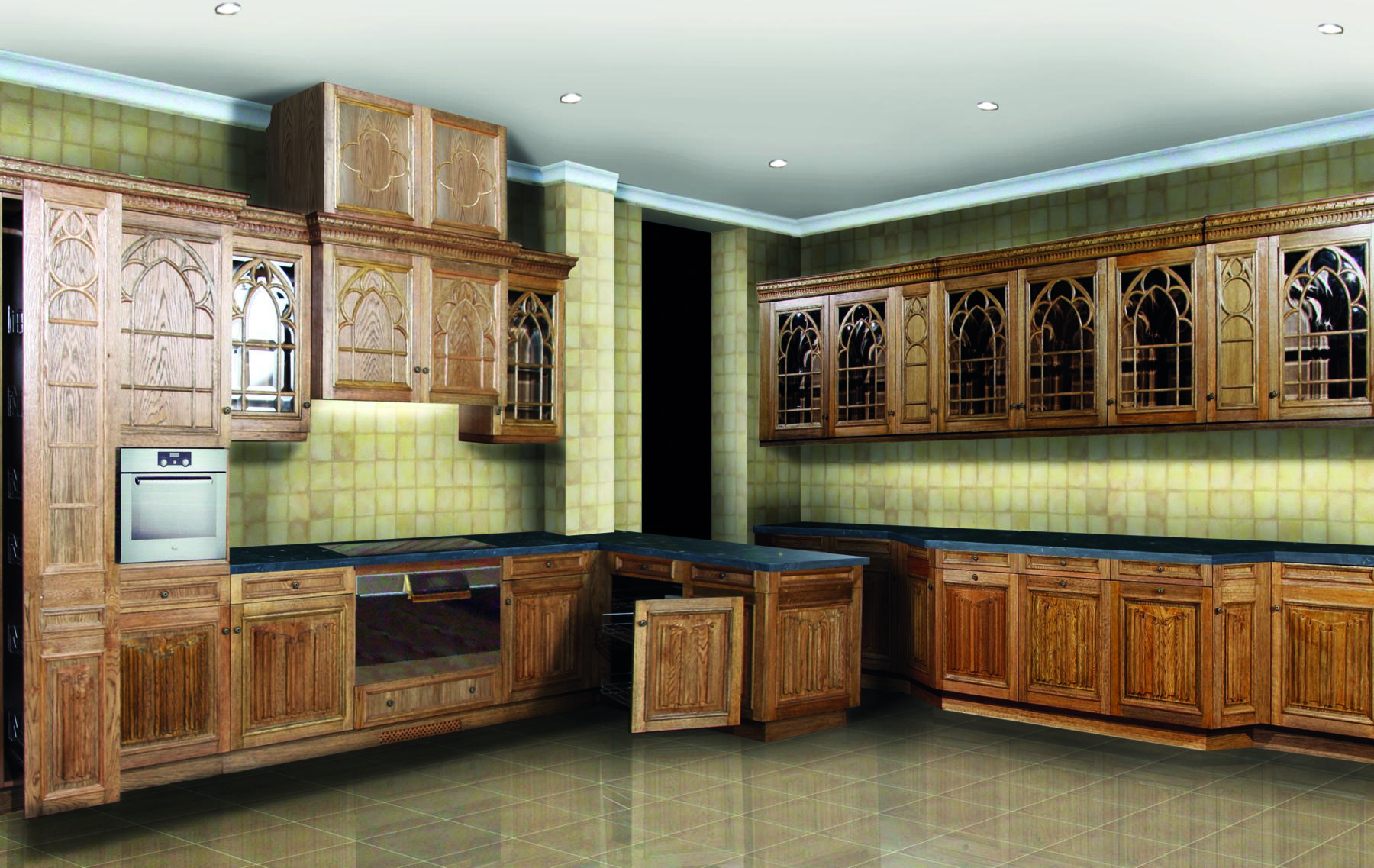 GOTHIC KITCHEN copia-1 ... & Gothic Kitchen For Presidential Dacia | Camerin