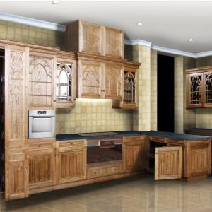 gothic kitchen rendering