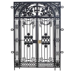 006 WROUGHT IRON ENTRANCE DOOR
