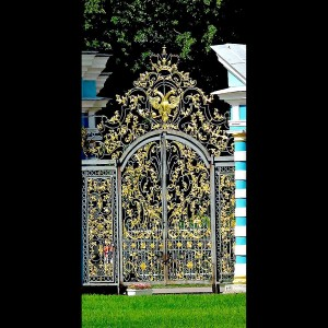 007 WROUGHT IRON ENTRANCE DOOR(1)