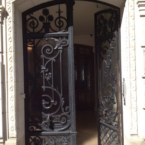 008 WROUGHT IRON ENTRANCE DOOR