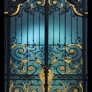 011 WROUGHT IRON ENTRANCE DOOR